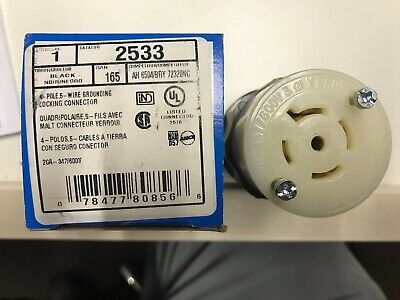 Leviton 2533 Twist Lock Female 20A 347/600V L23-20R