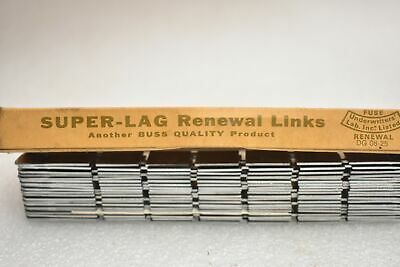 Lot of 20 New Bussmann Super Lag LKS60 600VAC Renewable Fuse Links. New in Box