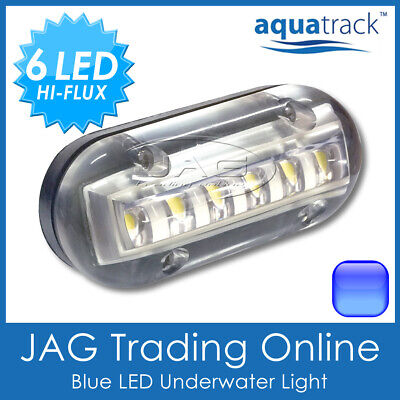 "12V BLUE 6-LED 3W Underwater Boat Transom Light 3.5"" - Fishing Squid Trailer"