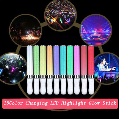 Home Appliance Parts Vocal Concerts Glow Stick 15 Colors Change Glowing Led Magic Wand Sticks Highlight Flashing