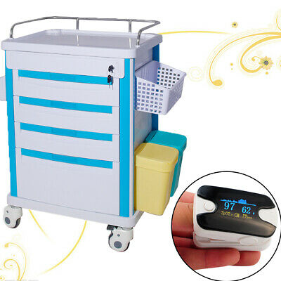 Lap Medical Giving medicine Rolling Trolley cart Movable Operating Room+SPO2 FDA
