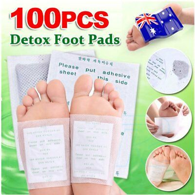 Foot Pads Care Sticky Adhesives 100x Detox Patch Natural Plant Toxin Removal A∨