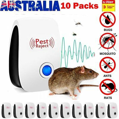 10X Pest Repeller Reject Ultrasonic Electronic Mouse Rat Mosquito Insect ContrL▩