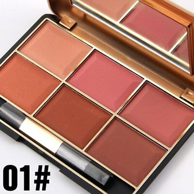 South American Style Blush Makeup Cosmetic Natural Blusher Powder Palette C♡