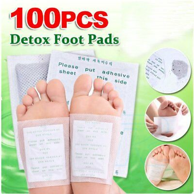 100Foot Pads Care Sticky Adhesives 100x Detox Patch Natural Plant Toxin RemovaH〡