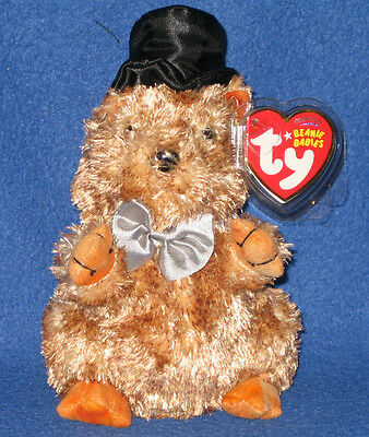 TY BEANIE BABY ~ PUNXSUTAWN-E PHIL the Groundhog (Internet Exclusive ... 12b7a3a62229