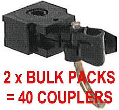 MICROTRAINS - 2 x BULK PACK 10 PAIR BLACK BODY MOUNTED COUPLERS = 40 COUPLERS!