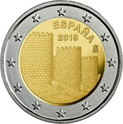 España 2 Euros 2019 - Murallas De Avila  - Disponible