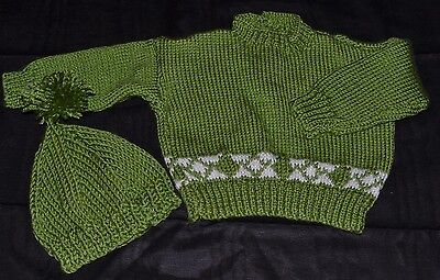 Hand knitted Toddler Jumper and Beanie Set