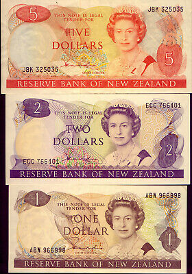 NEW ZEALAND: 3 LOVELY BANK-NOTES  gEF to UNC   NO RESERVE