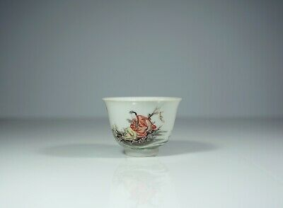 A Chinese Famille Verte 'Scholar' Cup