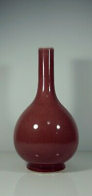 A Chinese Red Glazed Bottle Vase