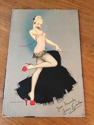 Very Rare Vintage Advert Board Jenna Esselbee SOUTH LONDON BREWERY Beer PIN UP