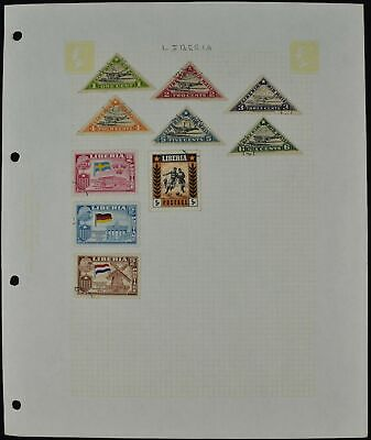 Liberia Album Page Of Stamps #V8744