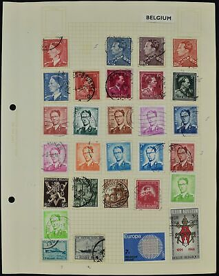 Belgium Album Page Of Stamps #V8639