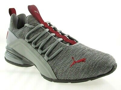 e2eefb12a2d Puma Axelion Men s Grey red Running Shoes  191425-01