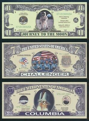 "USA: 1996-2003 Colln 5 diff Funny Money Fantasies incl ""FIRST MOON LANDING"""