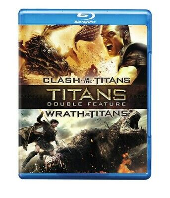 Clash of the Titans (2010) / Wrath of the Titans (2012) (2 Disc) BLU-RAY NEW