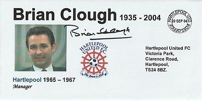 20 Sept 2004 Brian Clough In Memoriam As Hartlepool U Manager Football Cover