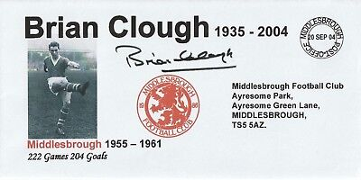 20 Sept 2004 Brian Clough In Memoriam As Middlesbrough Player Football Cover