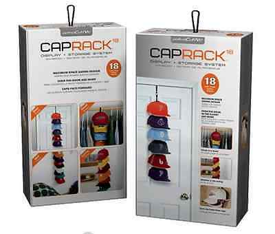 Perfect Curve Cap Rack System 18 Caps Storage - Snapback, Hat, NBA, NFL CapRack