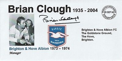 20 Sept 2004 Brian Clough In Memoriam As Brighton Manager Football Cover