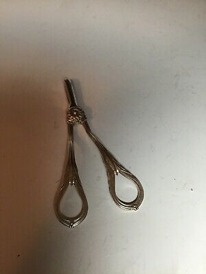 Antique Solid Sterling Silver Scissors - Grapes
