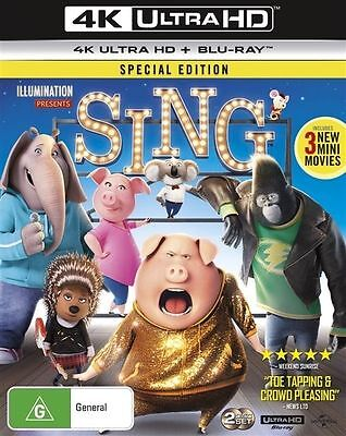 Sing 4K Ultra HD : NEW UHD Blu-Ray