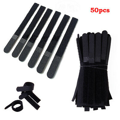 Pasow 50pcs Cable Ties Reusable Fastening Wire Organizer Cord Rope Holder 7 I...