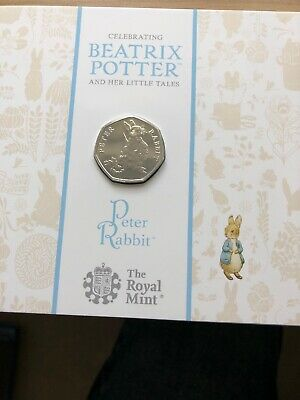 2018 Royal Mint Beatrix Potter Peter Rabbit BU 50p Fifty Pence Coin Pack Sealed