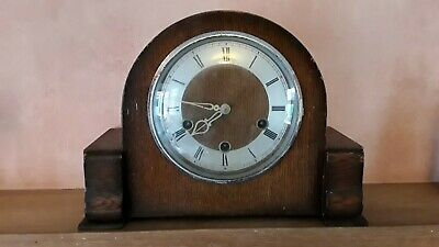 Vintage Smiths Enfield Westminster Chime Mantle Clock Spares or Repairs