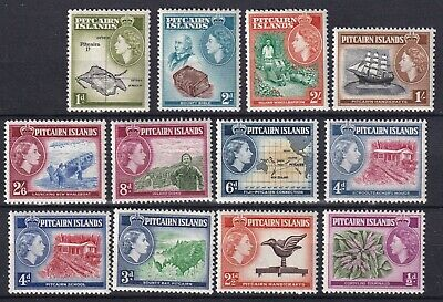 Pitcairn 1957 set of 12 S.G. 18-28 mint hinged