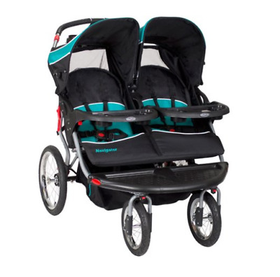 Double Stroller Jogger Navigator Baby Toddler Reclining Seat Lockable Durable