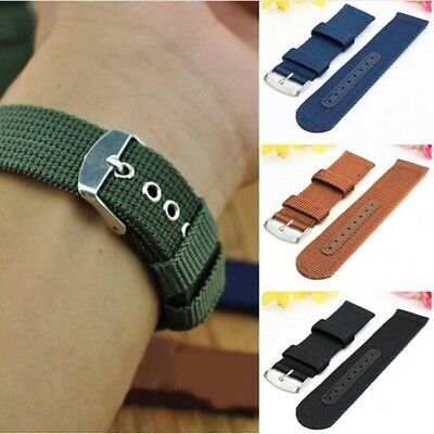 Hot Watch Strap Band Military Divers Army Nylon Canvas 18mm 20mm 22mm