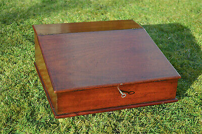 Victorian mahogany sloped front writing box English circa.1890