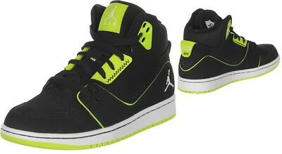 best sneakers 600e8 a86aa Pre-Owned Nike Air Jordan 1 Flight 2 Black   Lime Youth Boys Sneakers Size