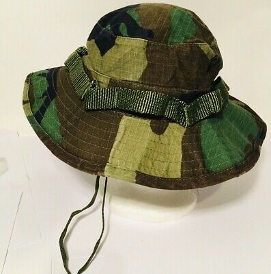 f5598da7e06cd US Issue Boonie Hat Jungle Woodland Camo Size 7 1 4 Sun Hot Weather Type