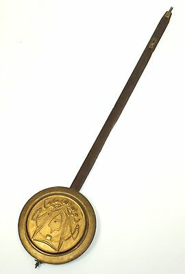 """VINTAGE 5-5/8"""" CLOCK PENDULUM with 25"""" STICK and RATING NUT 7.2 ounces - RU37"""