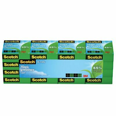 "Scotch Magic 812 Greener Invisible Tape, 0.75"" x 900"", Clear, 16-Pk"