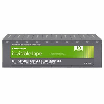 "Office Depot® Brand Invisible Tape, 3/4"" x 1,000"", Pack Of 10"