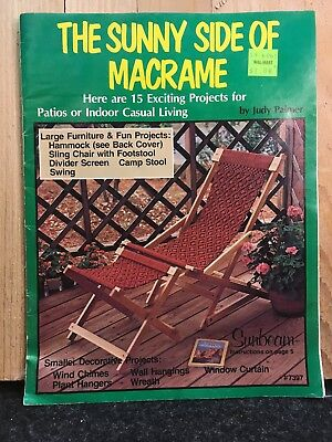 SLING CHAIR FOOTSTOOL Sunny Side of Macrame patterns: HAMMOCK; OWLS SWING n