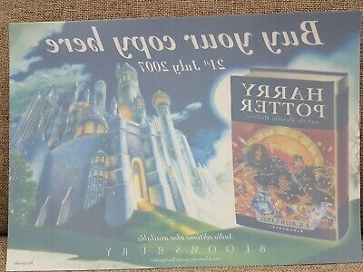 Harry Potter And The Deathly Hallows Original Window Vinyl New