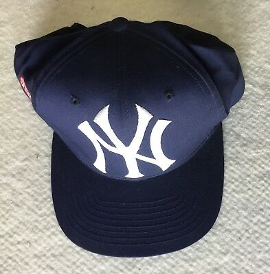 06926ade2b3 New York YANKEES Vintage 90 s ONE SIZE Hat Cap   FRONT Side BACK logos    LOGO