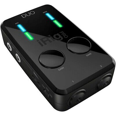 IK Multimedia iRig Pro Duo Audio/MIDI Interface for iOS and Mac LN