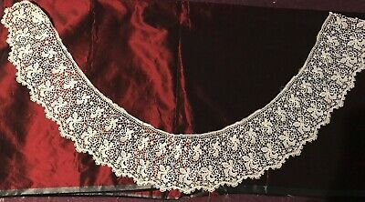 """GORGEOUS ANTIQUE  FRENCH LACE GUIPURE EDGING 40"""", 51"""" 10"""", 11"""" by 1 1/2"""""""
