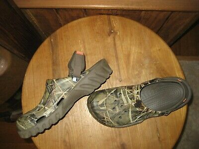 7f0515b88260f CROCS RealTree Advantage Max-4 HD Camouflage Classic Clogs Men's 12 LIKE  NEW!