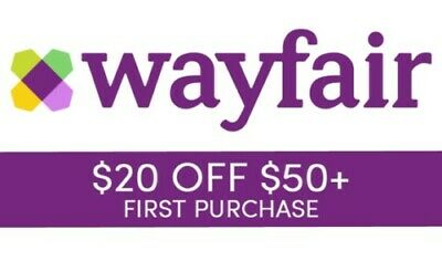 Wayfair $20 off of $50 coupon - Valid for new customers only- Fast Shipping!