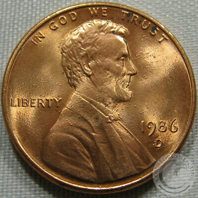 1986-D Unc Lincoln Memorial Penny Nice Coin **Make An Offer**