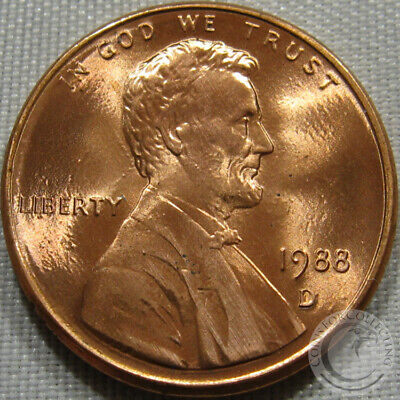 1988-D Unc Lincoln Memorial Penny Nice Coin **Make An Offer**