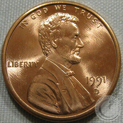1991-D Unc Lincoln Memorial Penny Nice Coin **Make An Offer**